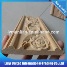 Esquina decorativa moldura de madera talla marco