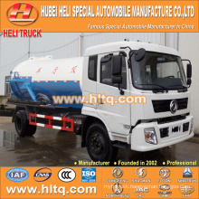 DONGFENG 4x2 10000L vacuum sewage suction truck 190hp hot sale