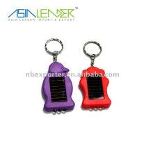 mini animal shaped led solar mini led flashlight keychain