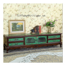 American Style Solid Wood Cabinet Hand Painting Furniture cabinet