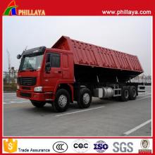 Camion à benne basculante latéral semi-remorque à essieux lourds 3 essieux