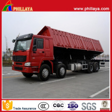 Heavy Duty 3 Axles Semi Trailer Side Dump Truck