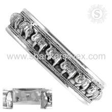 Красивый простой серебряный браслет предлагает оптовые 925 стерлингового серебра ювелирные изделия ручной работы серебряные ювелирные изделия