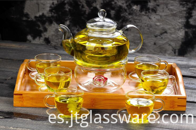 handmade glass tea set
