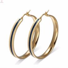 Accessoire de bijoux de boucle d'oreille d'émail d'or haut de gamme pour les femmes noires