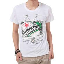 Top Hotsale Moda Impressão Personalizado 100% Algodão Camisa Dos Homens T