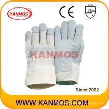 Venta de Pig Split mejor cuero industrial mano seguridad trabajo guantes (21004)