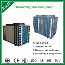 Titanium heat exchanger for swimming pool water heater