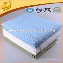 Manta de hospital de algodão de design OEM com 100% de Swaddle de algodão de Muslin 1 camada após lavagem