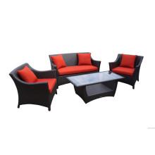 Beliebte Red Rattan Lounge Set 4PCS