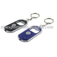 Porte-clés avec ouvre-bouteille, lumière porte-clés, ouvre-bouteille avec éclairage, porte-clés de promotion