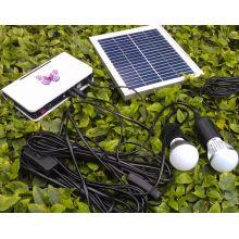 La LED rurale d'électricité solaire allume des lampes avec les lampes argentées de 1W LED d'or 3W