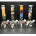 Glasbecher-Bongs mit Barock-Cartoon-Kopf-Porträt