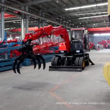 Nova Escavadeira Hidráulica de Roda Tipo Móvel Mini Escavadeira Com CE