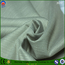 3 Pass Polyester Black out Coating Flocking Curtain Fabric