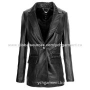 Long leather coat for lady