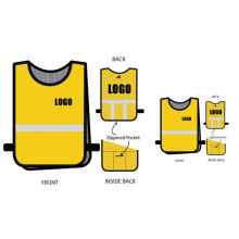 Custom Sublimated Mens Running Wear Reflective Vest Light Weight