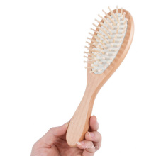 Cepillo de pelo de madera profesional del logotipo del OEM de la marca FQ