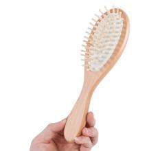 Марка КТ профессиональный изготовленный на заказ Логоса OEM деревянная щетка для волос