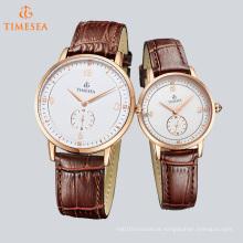 Novo encantador relógio de quartzo unisex assistir pulso de aço inoxidável 70040