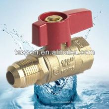 forged copper gas ball valve(female thread*flare) CSA UL