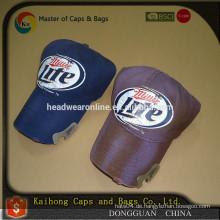 Kundenspezifischer Bierflaschenöffnerhut mit Stickerei-Logo 3D