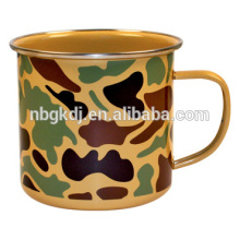 Камуфляж камуфляж эмаль эмаль чашка кофе чашка кофе