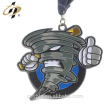 Fundição de metal personalizado esmalte beisebol tornado metal esportes medalhas