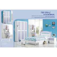 Blue Color MDF Bedroom Sets for Boy (L120A)