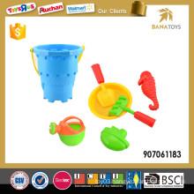 Summer blue beach bucket and spade