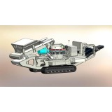 Pedrail type mobile crushing screening plant