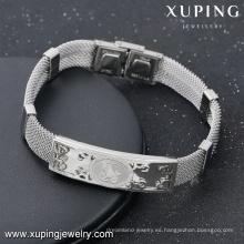 Pulsera-14-joyería y accesorios de moda imagen de vaca grabada en acero pulseras de amistad unisex