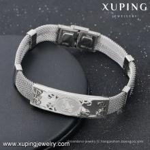 bracelet-14-bijoux et accessoires de mode en acier gravé image de vache bracelets d'amitié unisexe