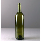 750ml Dark Green color Glass Wine Bottle 300mm Height
