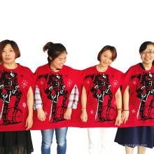 PK18A03YF Unisexe chinois groupe de Noël pull