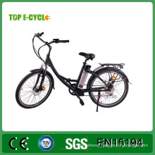 "TOP China Manufacturer E-cycle 26"" city ebike with pedals electric city bike"