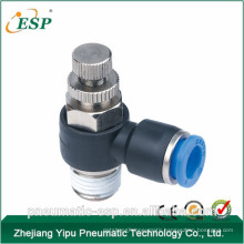 ESP high quality pneumatic elbow plastic speed control fittings for tube