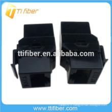 Black Color 8P8C Cat6 Inline Coupler RJ45 Keystone Jack