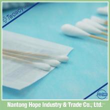 Brotes de algodón estériles médicos de 2 mm con palo de madera