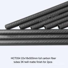 Twill Plain 3K Tube en fibre de carbone, tige en fibre de carbone