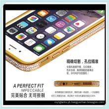 Luxo diamante capa de telefone bumper quadro para iphone6