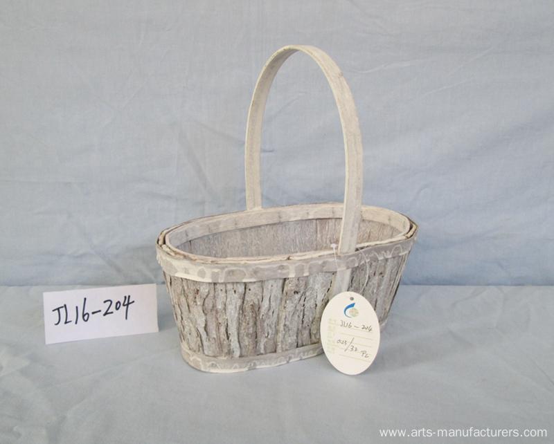 Oval Wood Bark Basket