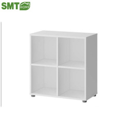 Modern white 4 cube wooden bookcase discount for sale