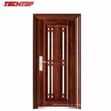 TPS-032 Nuevo modelo de seguridad de entrada de acero Puerta de hierro de acero principal de doble puerta de diseño