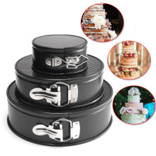 3pcs Cheesecake Leakproof Runde Kuchenform Set