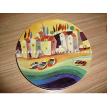 Estilo especial de la cena decorativa de la porcelana Plate souvenir plate
