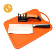 Novo design de aço de alto carbono cutelo chinês cozinha bloco chef faca conjunto