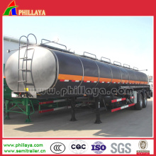 36cbm Diesel Burner Heated Bitumen Tanker with Tri-Axle Trailer Chassis