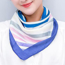 Wholesale fashion printed polyester tie small square neck scarf