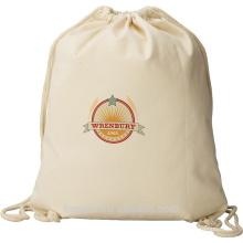 Saco de cordão multifuncional de algodão 8oz personalizado